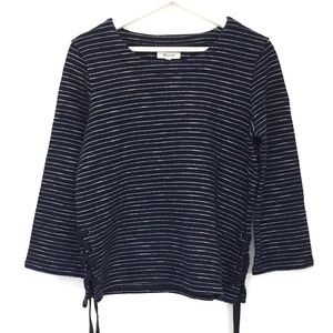 Madewell Stripe Side Lace Up Shirt